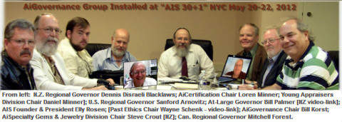 "@ May 2012 NYC Inaugural ""AIS 30+1"", the AiGovernance Advisory Group Global Video-Conferenced Formation Sessions - Pictured at the end of 18-hours of sessions spanning 3-days"