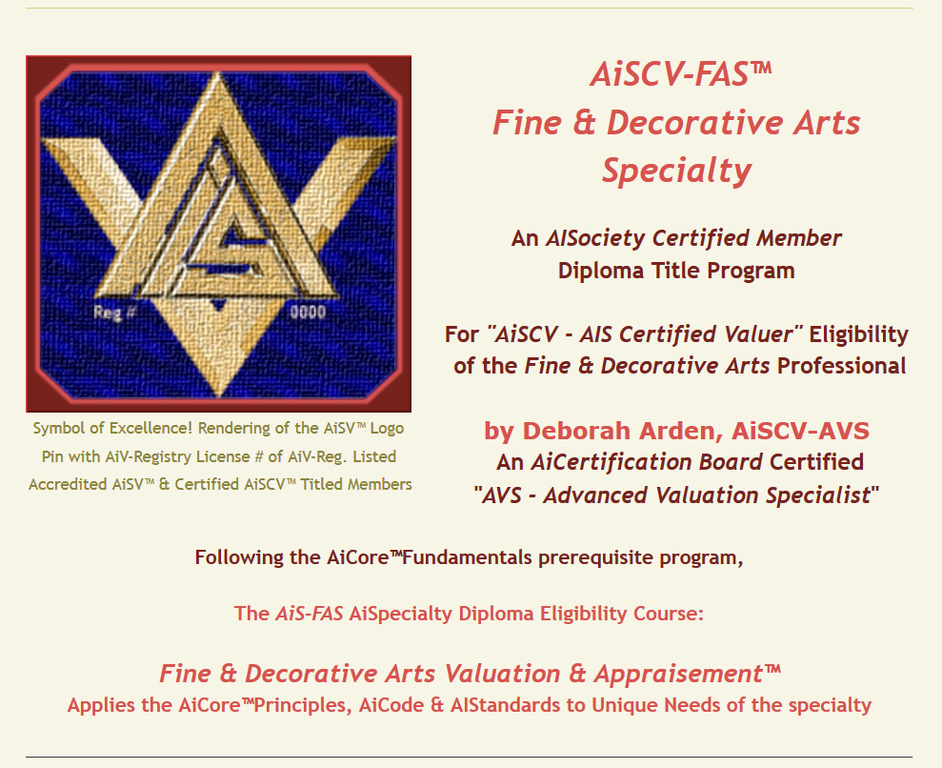AISociety Contact Info | Personal Property Appraisers