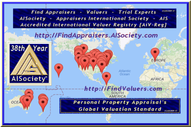 AISociety Accredited International Valuer Registry™ of The Global AiCore's Designated Certified and AIS-Licensed Appraisers Valuers Trial-Experts