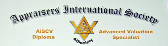 """AiCertification's """"AiSCV-AVS Advanced Valuation Specialist"""" Diploma Eligibility Program - Appellation of AISociety Certified Members Licensed & Listed in Accredited International Valuer Registry"""